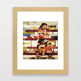 Glitch Pin-Up Redux: Emma Framed Art Print