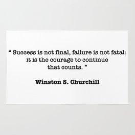 Winston Churchill Quote Rug