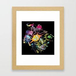 Arcade Versus Framed Art Print