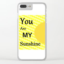Sunshine - Typography Clear iPhone Case