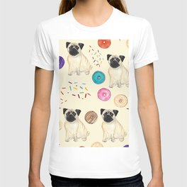 Pugs and donuts sweet sprinkles T-shirt