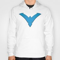 nightwing Hoodies featuring Nightwing Blue by Julian Rhys