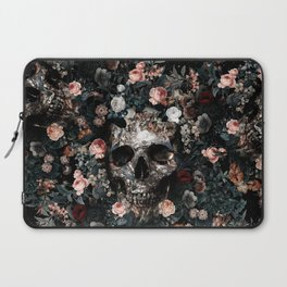Skull and Floral pattern Laptop Sleeve