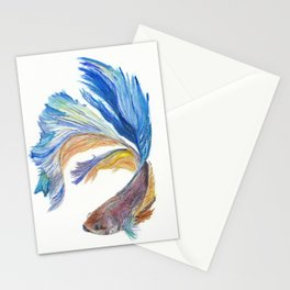 Siamese fighting fish Stationery Cards