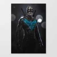 nightwing Canvas Prints featuring Nightwing 02 by Yvan Quinet