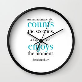 Living in the moment Wall Clock