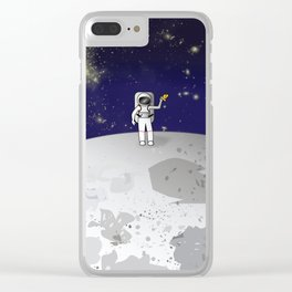They Have Pizza Up Here Clear iPhone Case