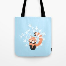 Baby Red Panda / Sky Tote Bag