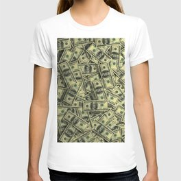 100 dollar cash get rich T-shirt