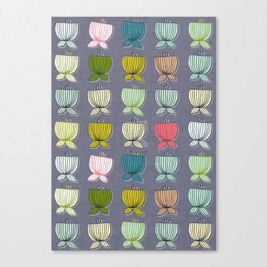 flower cups amethyst art Canvas Print
