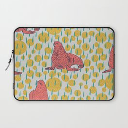 Seals in Coral Laptop Sleeve