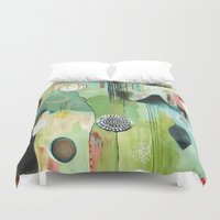 "flora bowley Duvet Covers featuring ""Fly Home"" Original Painting by Flora Bowley by Flora Bowley"