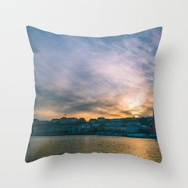 Sunset over the Danube Throw Pillow