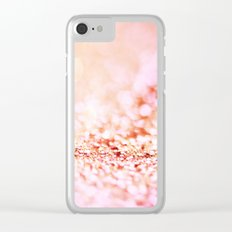 Pink shiny glitter - Sparkle Valentine Backdrop Clear iPhone Case