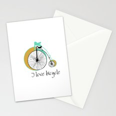 I love bicycle Stationery Cards