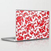 gaming Laptop & iPad Skins featuring Gaming Love by Tombst0ne