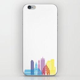 Boston V2 skyline pop iPhone Skin