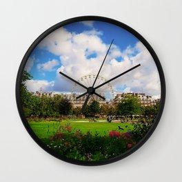 Garden of Tuileries Wall Clock
