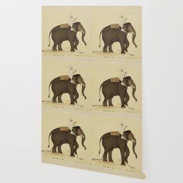 Mahout Riding an Elephant Painting (18th Century) Wallpaper