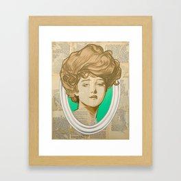 Gibson Girl Green Framed Art Print