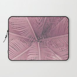 Pink Palm Leaves Laptop Sleeve