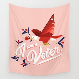 I am a voter. by Ariel Sinha Wall Tapestry