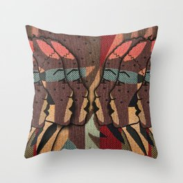 African Tapestry Throw Pillow