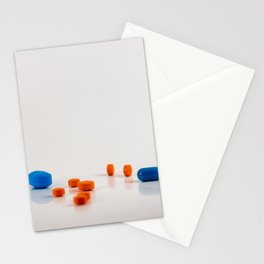 Colored medicines on a neutral background Stationery Cards