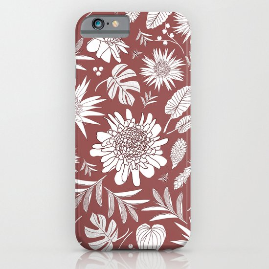 MARSALA TROPICAL FLORAL iPhone & iPod Case