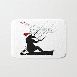 Let It Blow Christmas Holiday Kitesurfing Activity Bath Mat