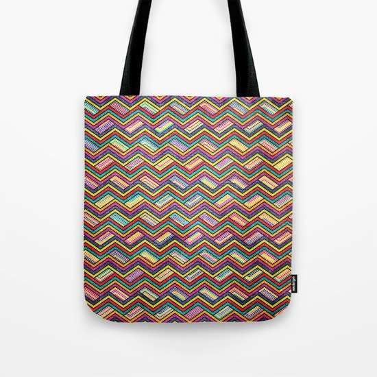 Seamless Colorful Geometric Pattern XVII Tote Bag