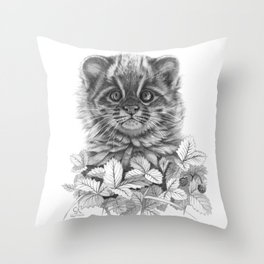 Asian Leopard Cat Cub G096 Throw Pillow