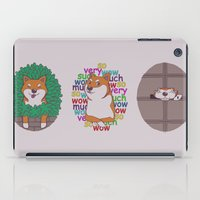 shiba inu iPad Cases featuring Inu by Corinna Schlachter