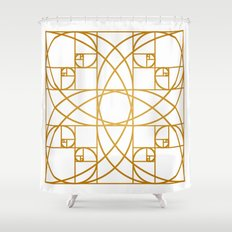 Golden Flower Shower Curtain