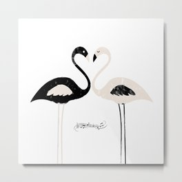 Armony flamingos Metal Print