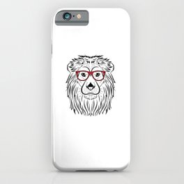 Cool Lion with Red sunglasses King of the Savanne iPhone Case