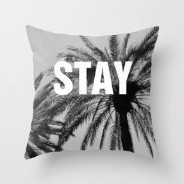 Modern Photography, Stay, Dorm Decor, Entryway decor, Palm tree Throw Pillow