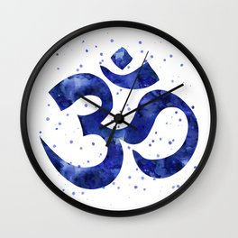 Ohm Symbol Blue Wall Clock