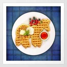 Waffle Unicorn Art Print