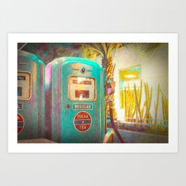 Tulsa Tea Gas Pump Art Print
