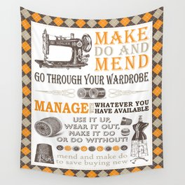 Make Do and Mend Wall Tapestry