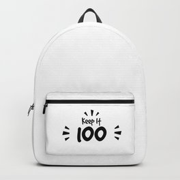 Keep It 100 Smol Bean Design Backpack