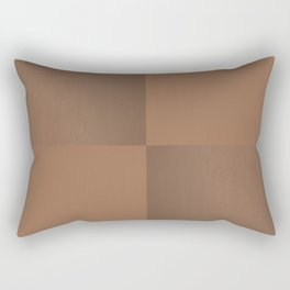 Dark Tan Leather Rectangular Pillow