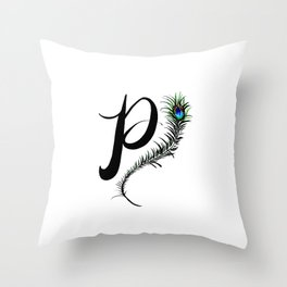 Monogram P Throw Pillow