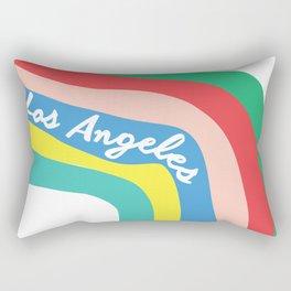 LOS ANGELES RAINBOW STRIPES Rectangular Pillow