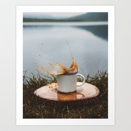 Splash of Coffee 2 Art Print