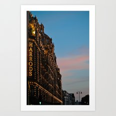 Harrod's Department Store London Art Print
