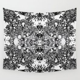 Fractal Blossoms Wall Tapestry