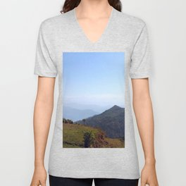 Tropical Mountains. Unisex V-Neck