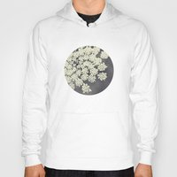 flower Hoodies featuring Black and White Queen Annes Lace by Erin Johnson